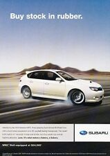 2009 Subaru Impreza WRX Original Advertisement Print Car Ad J546