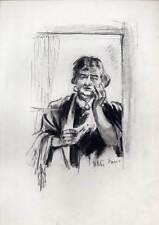 Zigeunerin-Zigeuner-Sinti-Roma - Kohlezeichnung von Victor Friese (1906-1969)