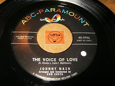 JOHNNY NASH - THE VOICE OF LOVE - AS TIME GOES BY  / LISTEN - BALLAD RNB POPCORN