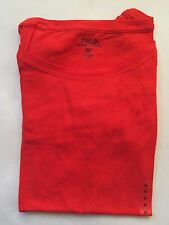 NWT Women's Polo Ralph Lauren LS V  Loose fitting T-Shirt Orange Size- XS