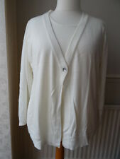 Cashmasoft / QVC Cardigan & Top Twinset with Corsage - CREAM - 1XL
