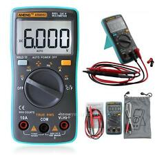 Digital Multimeter 6000Counts Backlight AC/DC Ohm Ammeter Temperature Tester