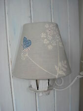 *COUNTRY CHIC* CANDLE LAMPSHADES VANESSA ARBUTHNOTT 'COW PARSLEY'Clay&Cornflower