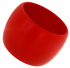 ZSISKA Wide Resin Cuff Bangle.  Red / Orange / Turquoise / Black