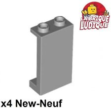 Lego - 4x Panel Panneau 1x2x3 Side Supports H. Studs gris/l b gray 87544 NEUF