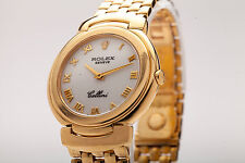 Estate $18,000 34mm Mens or Ladies Rolex Cellini 18k Gold Watch 99g & BOX HEAVY