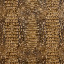 G035 Brown, Crocodile Faux Leather Upholstery Vinyl By The Yard