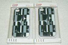 Lot de 2 coques de protection ELLE etui cover fashion pour APPLE IPHONE 4 et 4S