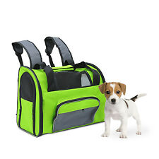 Pawhut Multi-use Soft Pet Dog Carrier Travel Tote Backpack Handle Shoulder Bag