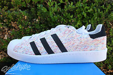 ADIDAS SUPERSTAR 80 'S PACK SZ 12 MULTICOLOR PRIMEKNIT PK S75845