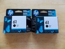 Lot of 2 HP 61 Genuine Black Inks  CH561WN Fresh June 2018 Expiration Dates OEM