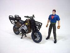 Vintage Jurassic Park III 3 JP3 Raptor Motorcycle Pursuit Bike Alan Grant Figure