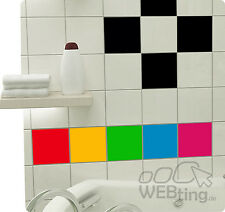 Stickers carrelage cuisine salle de bains décoration d'autocollant de tuile 48pc
