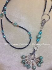 Handmade Knitting Blue Stitch Marker Necklace Set (SNAG FREE)