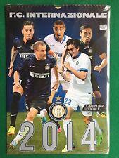 FC INTERNAZIONALE INTER CALCIO Calendario/Calendar 2014 , Nuovo/Sigillato/Sealed