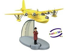 TINTIN CRYSTAL SEAPLANE AND NESTOR - HYDRAVION ET NESTOR MOULINSART NEW 29525