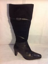 Roberto Vianni Black Knee High Leather Boots Size 37