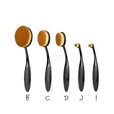 5Pcs Oval Cream Puff Cosmetic Toothbrush Shaped Power Makeup Foundation Brushes