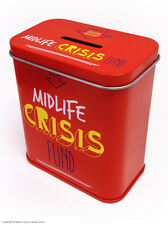 Brainbox Candy Midlife Crisis Fund funny money box tin piggy bank Christmas gift