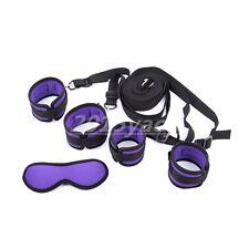 Purple Under bed restraint system Couple fun handcuffs anklecuffs blinder BDSM
