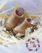1/3 Mini High Heel Brown Leather Shoes Doll Accessories Shoes for BJD SD Doll