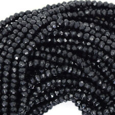 "2.5 - 3mm faceted black spinel rondelle beads 13.5"" strand"