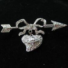 Vivienne Westwood Silver Bowknot Big Saturn Full Diamond brooch Box + Bag