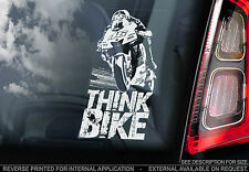 THINK BIKE! - Valentino Rossi Car Sticker -Doctor #46- PROCEEDS TO CHARITY -TYP1