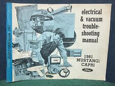 Shop Manual for the 1981 Ford Mustang/Capri Electrical & Vacuum Troubleshooting