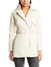 GENUINE SIZE 12 LIPSY CREAM BELTED SCUBA MAC JACKET COAT NEW IN RRP £85!