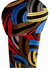 DUCHAMP LONDON Tie Multi-Coloured Interweaving Arcs LONG TIE
