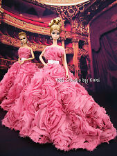 Rose Pink Evening Dress Outfit Gown Silkstone Barbie Fashion Royalty Limited FR