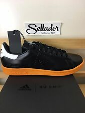 Raf Simons Stan Smith Black/Orange/White Size 9.5 Adidas