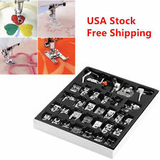 32 PCS Sewing Machine Presser Foot Feet For Brother Singer Janome Domestic USA