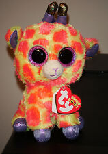"Ty Beanie Boos ~ DARCI the 6"" Giraffe ~ 2014 NEW Exclusive ~ MINT with MINT TAGS"