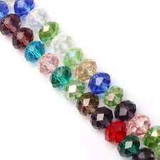 100 (±3) PCS , 4 X 6 mm Multicolor Mix Colors Crystal Faceted Abacus Loose Beads