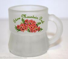 Frosted Mini Beer Mug Shot Glass STONE MOUNTAIN PARK ( pink flowers on front )