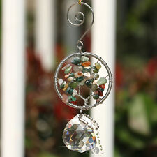 Colorful Rainbow Handmade Suncatcher Crystal Prisms Ball Pendulum Pendants 30mm
