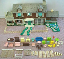 MARX MARXIE MANSION DOLLHOUSE VINTAGE TIN LITHO + FURNITURE PEOPLE ACCESSORIES!