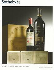 SOTHEBY`S CATALOGUE FINEST AND RAREST WINES  NOV 2011