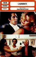 Movie Card. Fiche Cinéma. L'acrobate (France) Jean-Daniel Pollet 1976