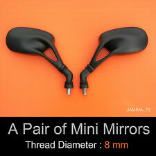 Yamaha Scooter Moped ATV Mini Mirrors 8mm Reverse Thread Jog Majesty Cygnus Pair