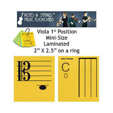 Viola 1st Pos Mini-On-A-Ring Laminated Music Flashcards