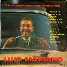 """LUIS MARIANO """"LA ROUTE AVEC MES CHANSONS"""" 60'S 25 CM LA VOIX DE SON MAITRE 1103"""