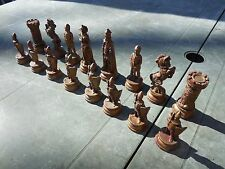 Vintage Depose Italy Chess Pieces Complete Renaissance
