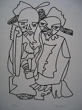 LAPICQUE Charles - Lithographie lithograph signée num Hommage à Dostoïevski 1967