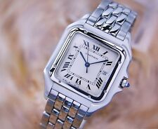 CARTIER PANTHERE WATCH CARTIER Men's Stainless Steel cartier Jumbo Watch MINT