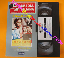 VHS film L'ORO DI NAPOLI Toto' Sophia Loren Vittorio De Sica FABBRI(F134) no dvd