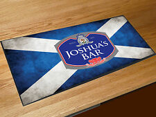 Personalised Scotland Flag beer label bar runner Pubs Clubs & Cocktail Bars