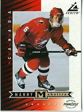 "Manny Maholtra 1997-98 Pinnacle '97 Zenith Dare to Tear 5""x7"" Team Canada #Z76"